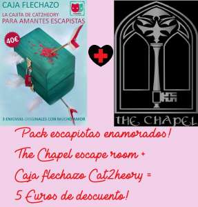 Promoción San Valentín The Chapel escape room